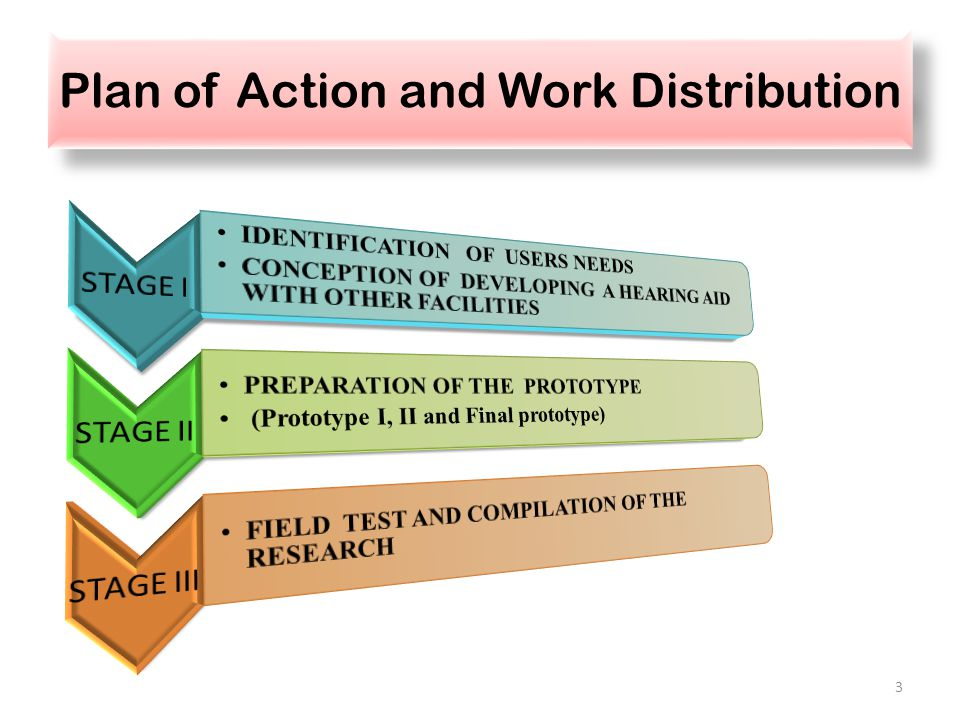 Plan of Action and Work Distribution 3