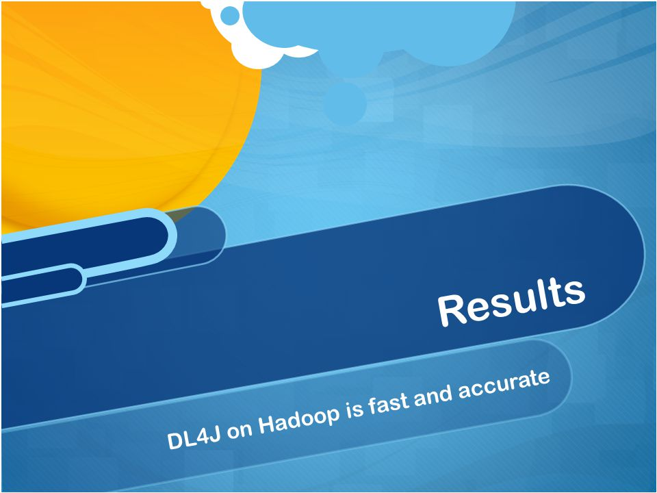 DL4J on Hadoop is fast and accurate Results