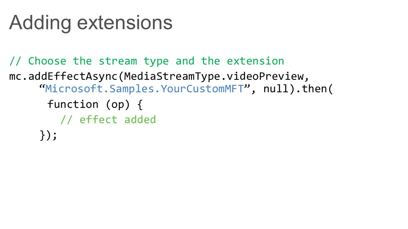Adding extensions