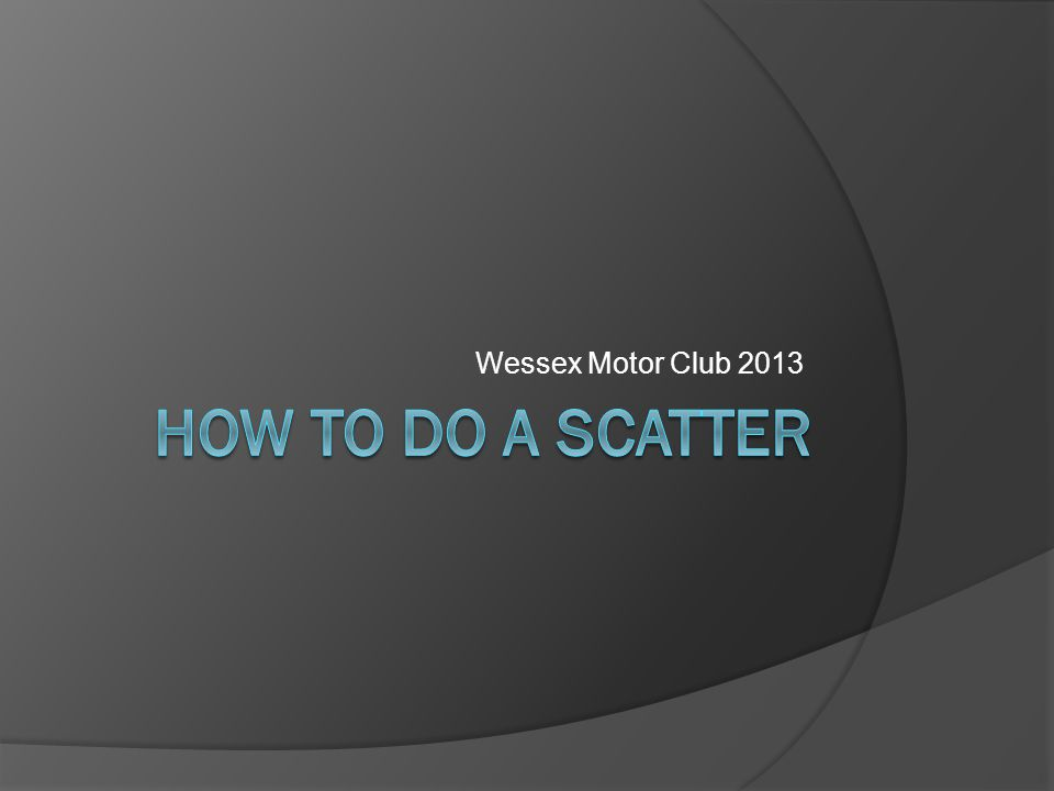 What is a scatter.Collection of points (called route checks [RCs]) scattered over the map.