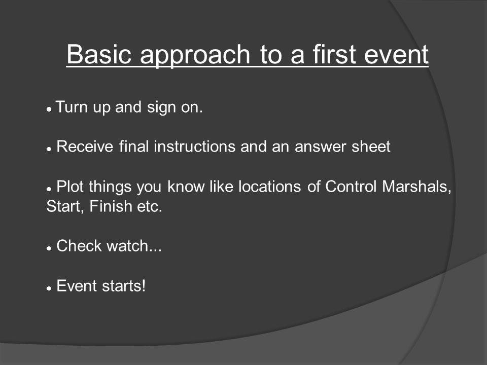 First event started.Solve and plot as many clues as you want.