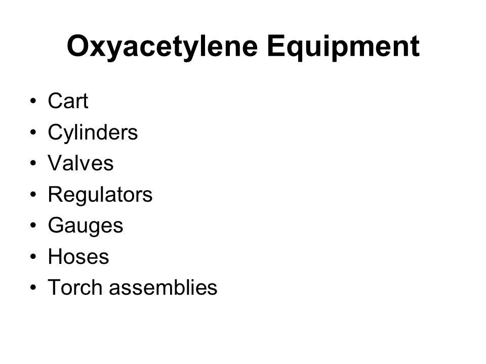 Oxyacetylene Equipment Cart Cylinders Valves Regulators Gauges Hoses Torch assemblies