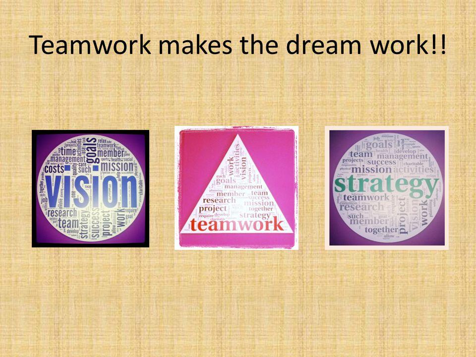 Teamwork makes the dream work!!