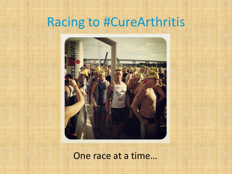 Racing to #CureArthritis One race at a time…