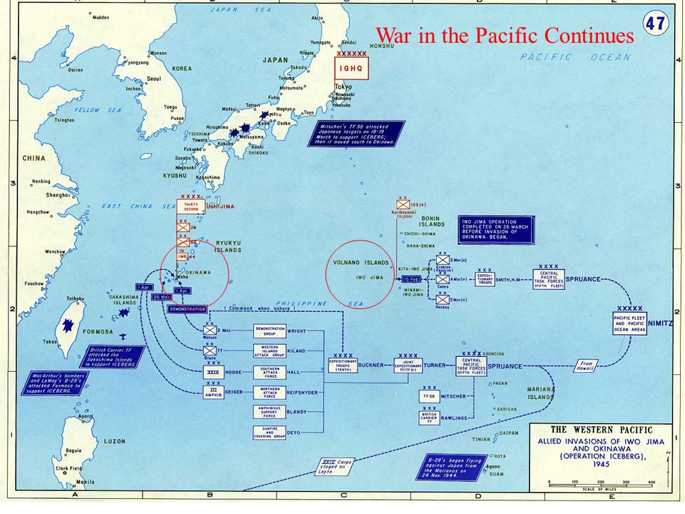 War in the Pacific Continues