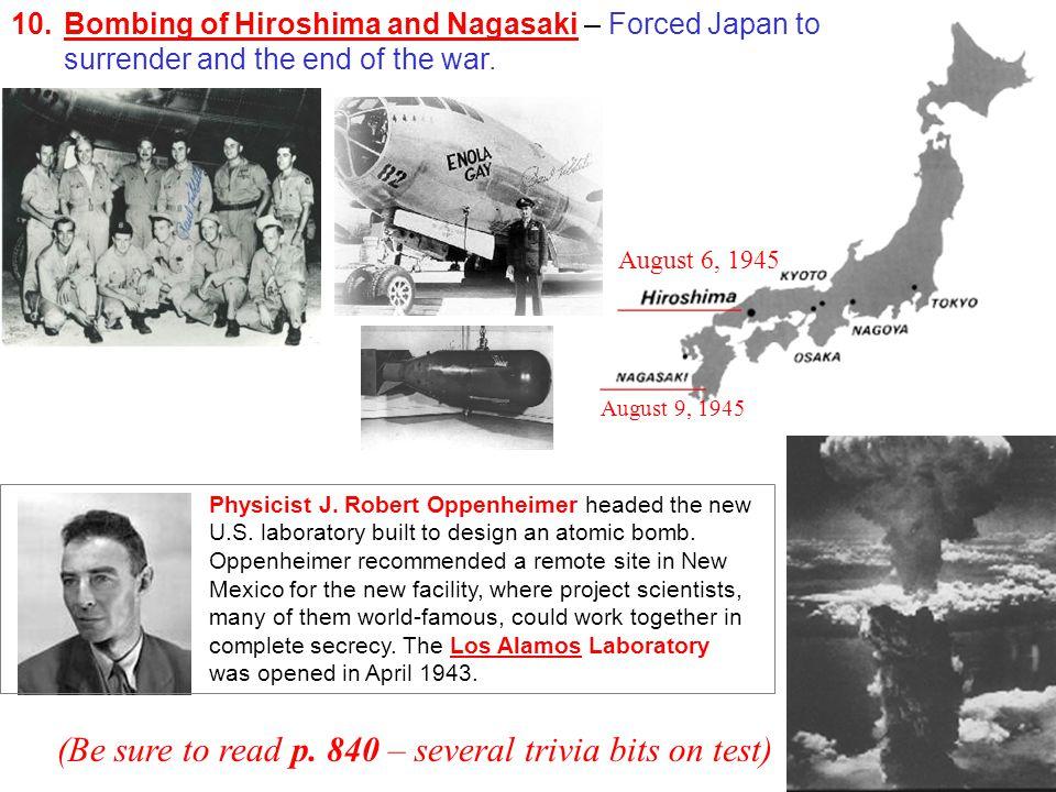 Physicist J. Robert Oppenheimer headed the new U.S.