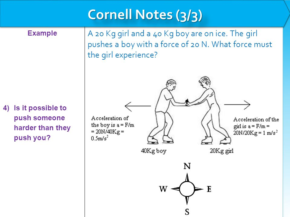 Example: Newton's Second Law The Human Torch is pulling the Thing (not an easy feat) straight up off the ground by applying a force of 3000 N.