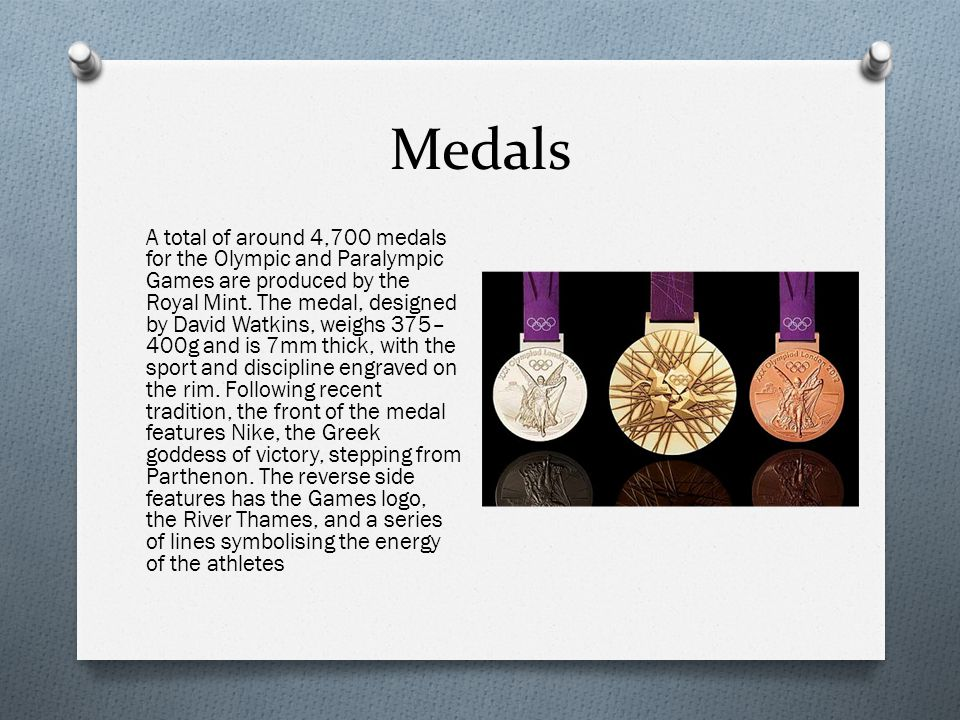 Medals A total of around 4,700 medals for the Olympic and Paralympic Games are produced by the Royal Mint.