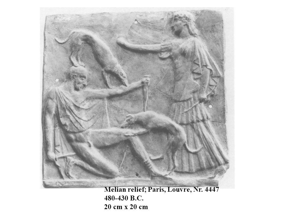 Melian relief; Paris, Louvre, Nr. 4447 480-430 B.C. 20 cm x 20 cm