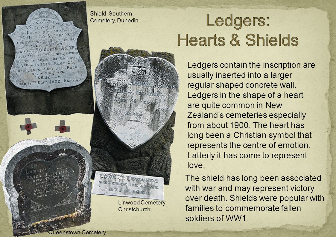 Ledgers contain the inscription are usually inserted into a larger regular shaped concrete wall.
