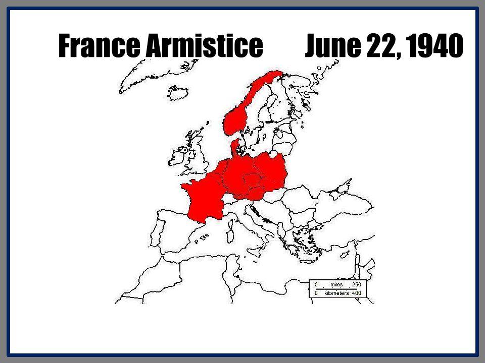 France Armistice June 22, 1940
