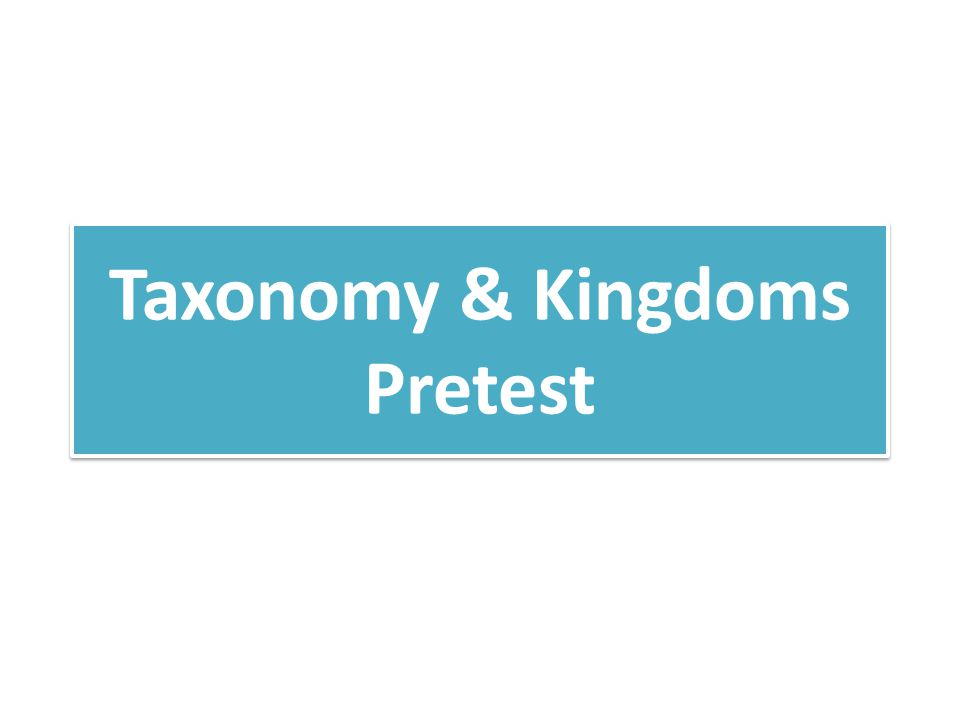 Taxonomy & Kingdoms Pretest KEY