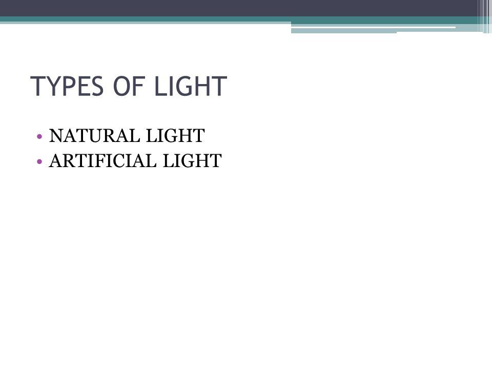 INFLUENCE OF LIGHT IN SPATIAL PERCEPTION Light is a natural or artificial physical phenomenon that allows us to see and distinguish objects that surround us.