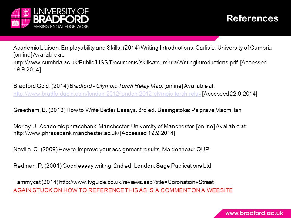 Academic Liaison, Employability and Skills. (2014) Writing Introductions.