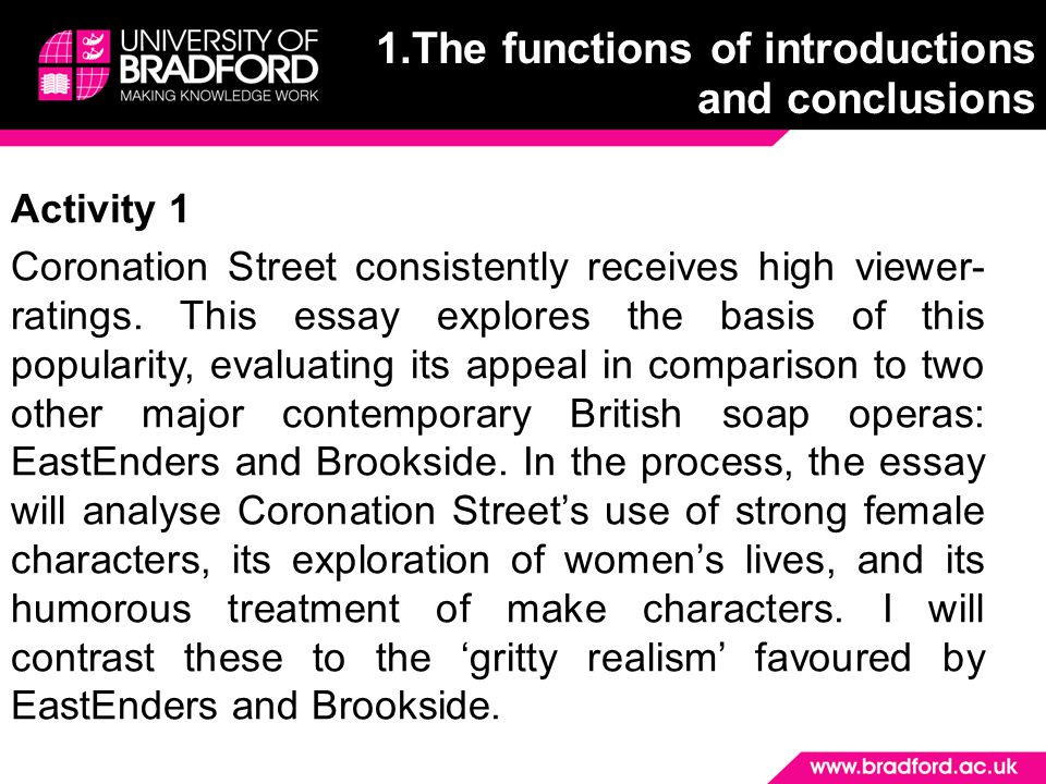 Activity 1 Coronation Street consistently receives high viewer- ratings. This essay explores the basis of this popularity, evaluating its appeal in co