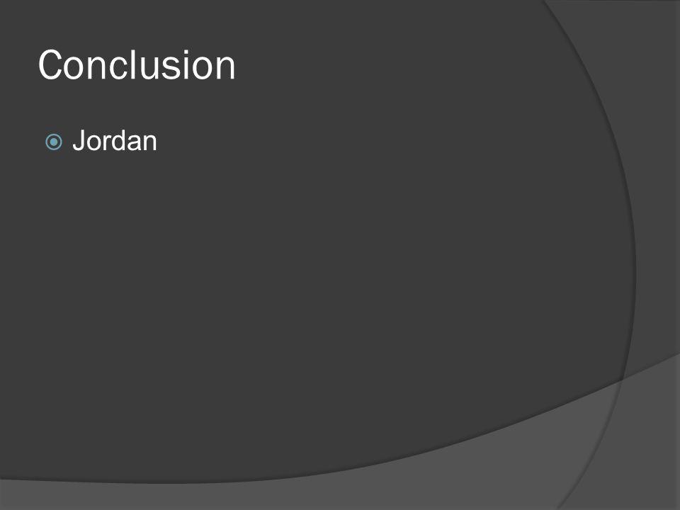 Conclusion  Jordan