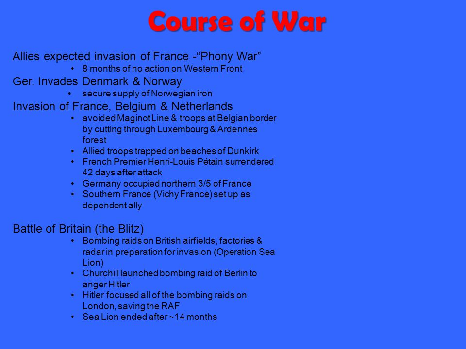 Path to War in Europe Rearming Germany Occupation of Rhineland Annexation of Austria (Anschluss) Annexation of Sudetenland –Munich Conference/appeasem