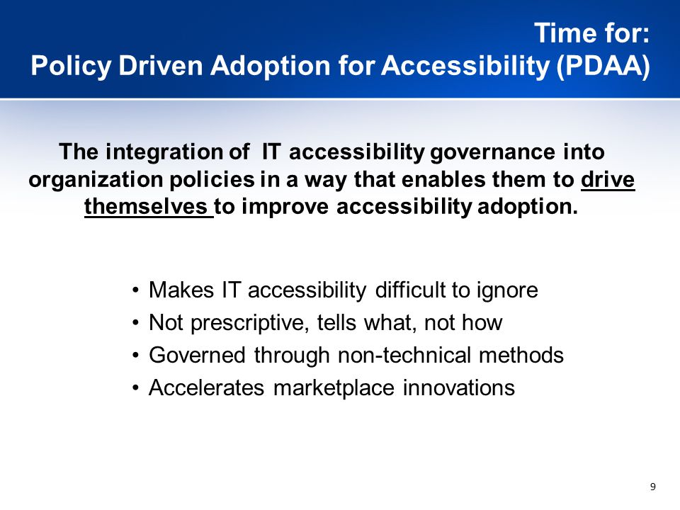 20 Integrate Accessibility into Key Business Processes: Analysis Example