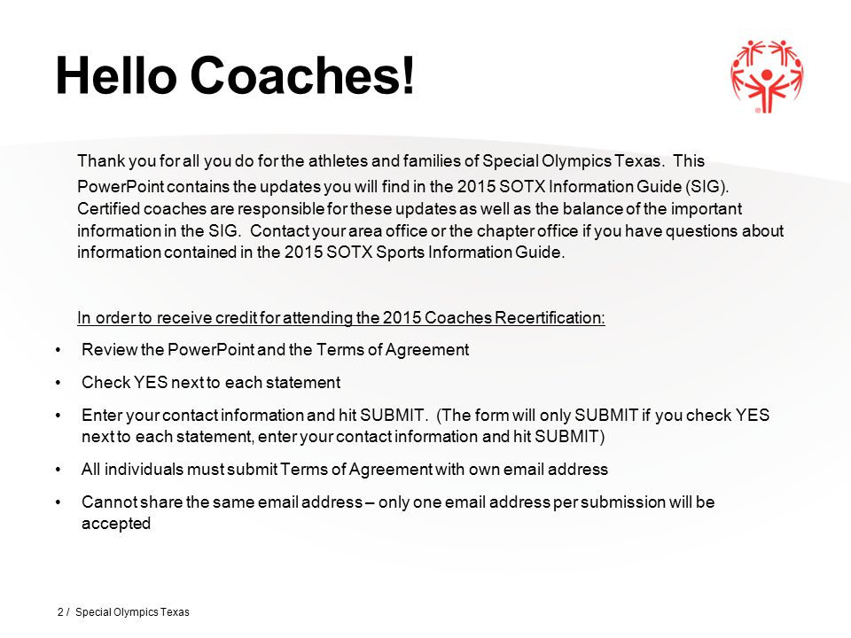 Registration 23 / Special Olympics Texas