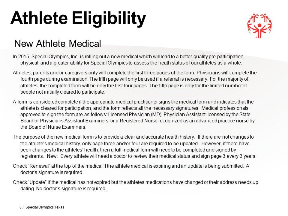 Aquatics 37 / Special Olympics Texas Aquatics will now be known as Aquatics (Swimming) per SOI rule change.