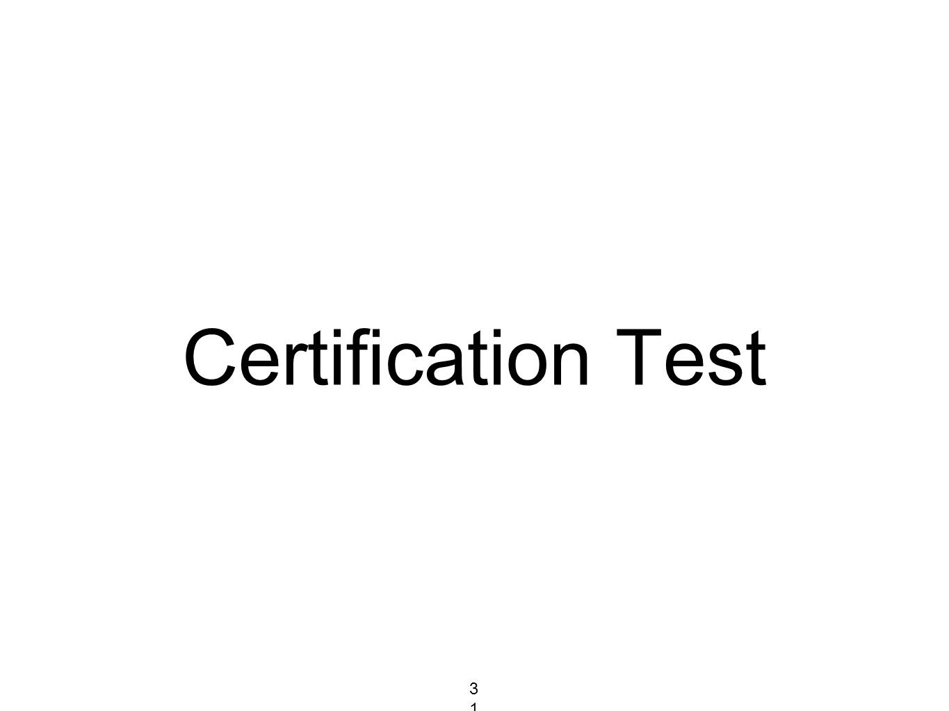 Certification Test 318318318
