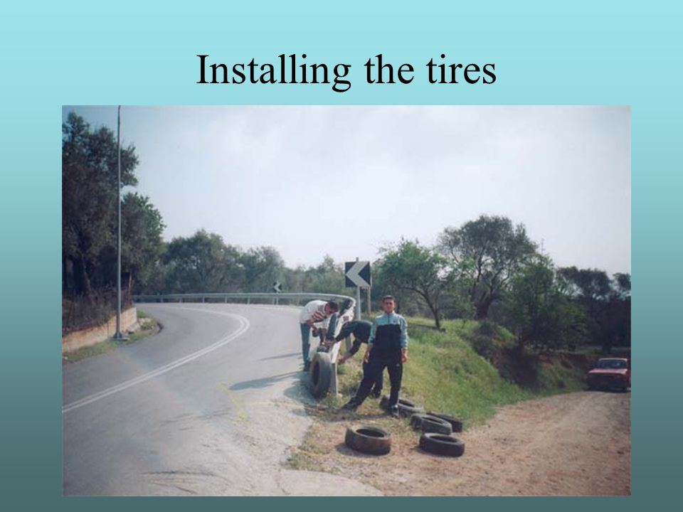 Installing the tires