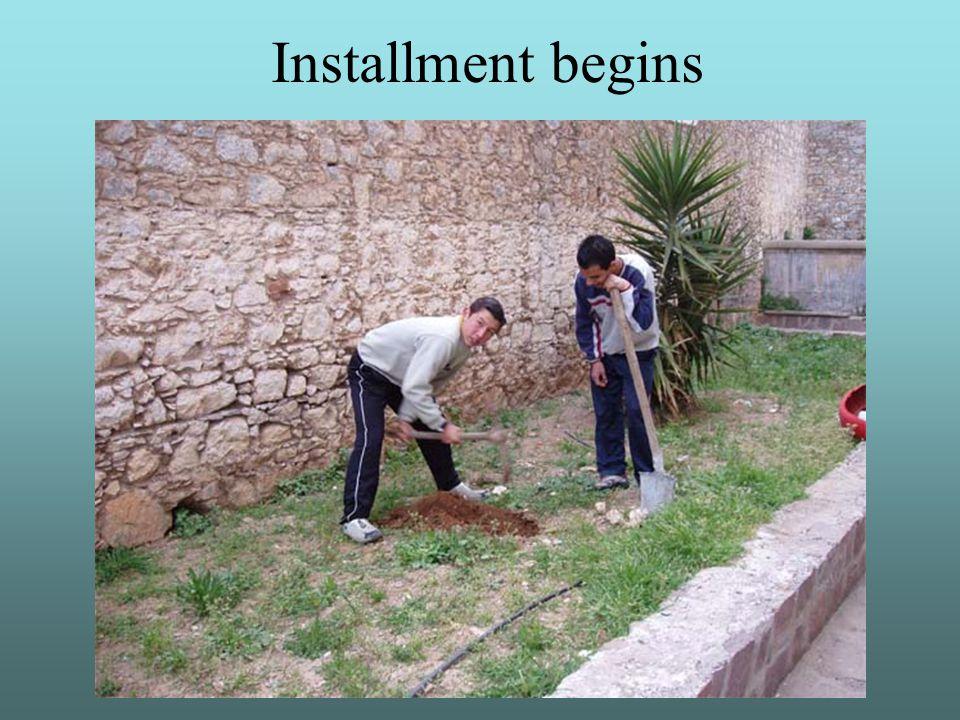 Installment begins