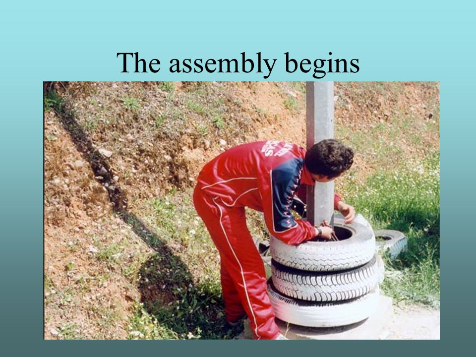 The assembly begins