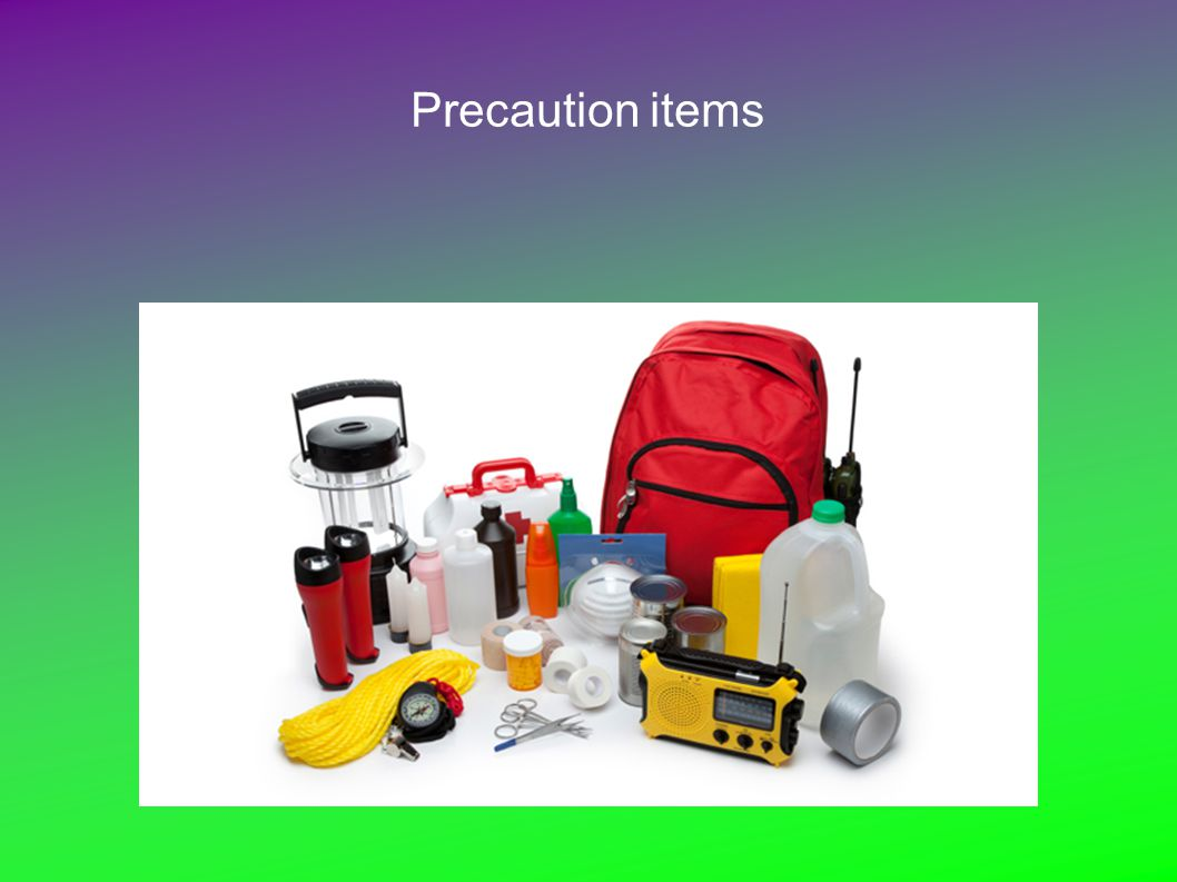 Precaution items