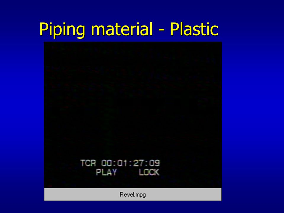 Piping material - Plastic