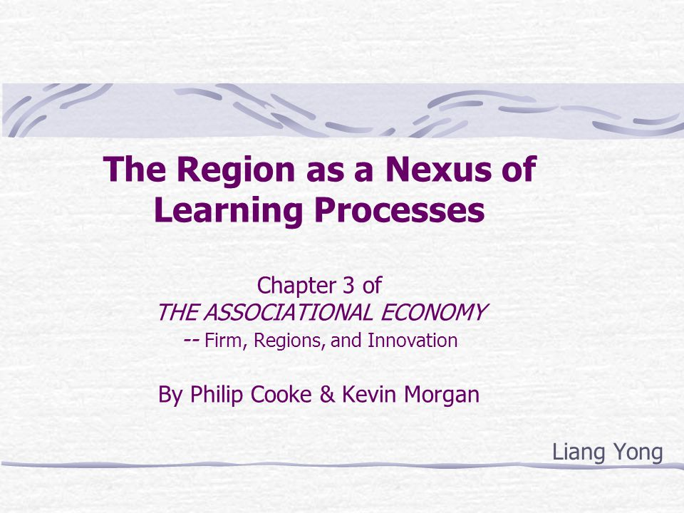 Introduction: What does this book talk about The purpose of the book: In this book, the authors represent their ten years research to offer an analysis of regional economic evolution and the role of co-ooperation as a governance mechanism and policy mediator in that process.