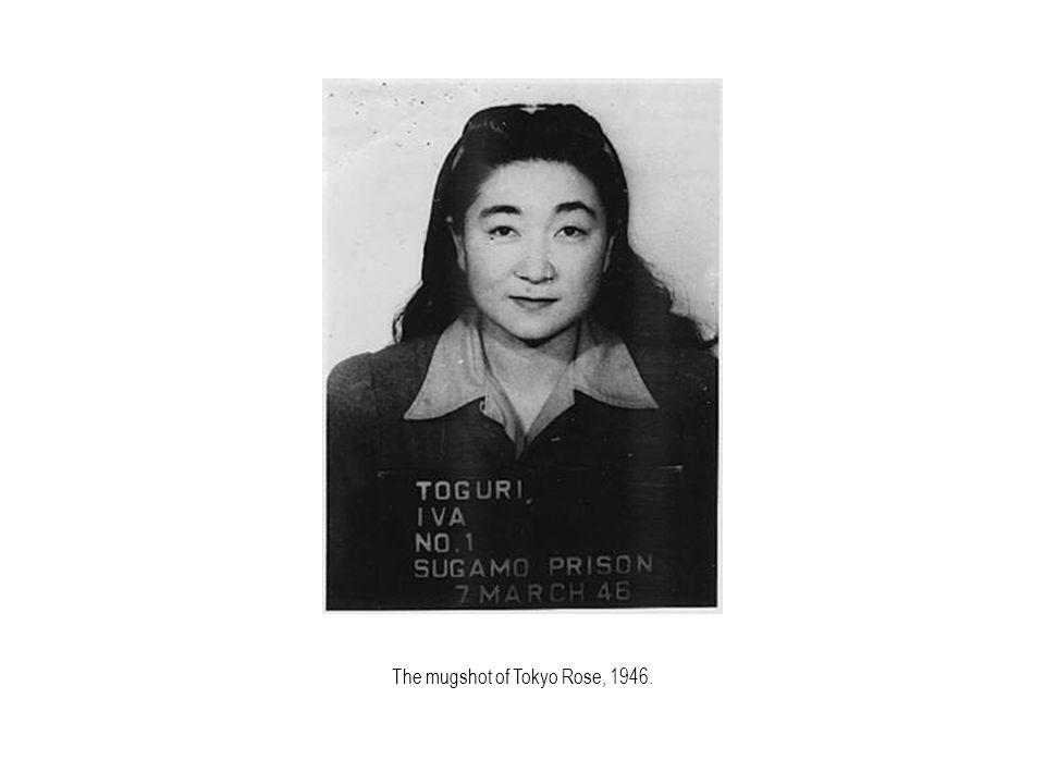 The mugshot of Tokyo Rose, 1946.