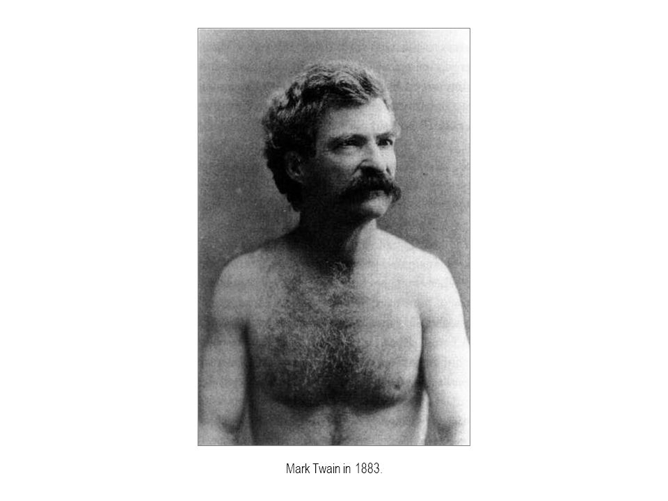 Mark Twain in 1883.
