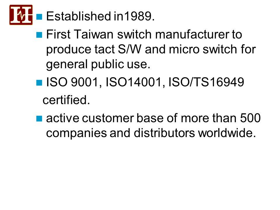 Established in1989.