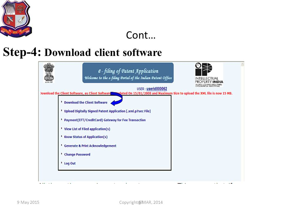 67 Cont… Step-4: Download client software 9 May 2015Copyright@MAR, 2014