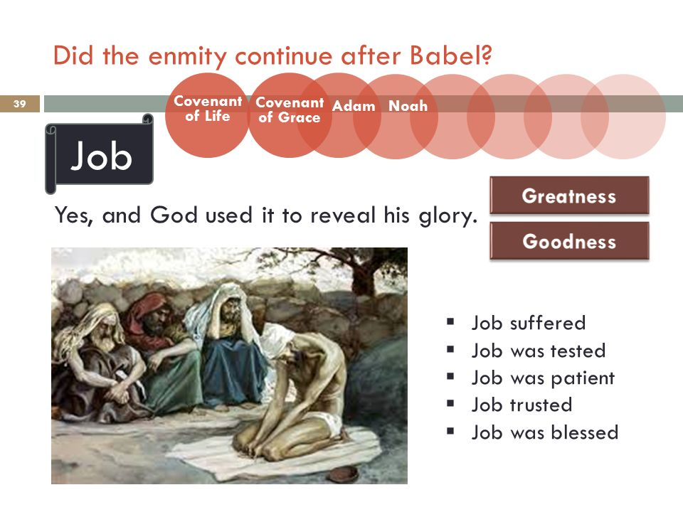 Did the enmity continue after Babel. 39 Yes, and God used it to reveal his glory.
