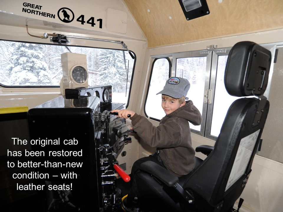 The original cab has been restored to better-than-new condition – with leather seats!
