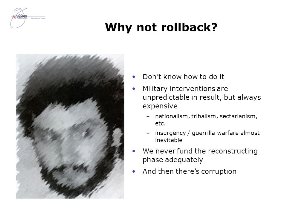 Why not rollback.