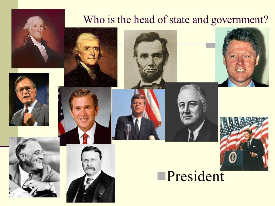 Who is the head of state and government President