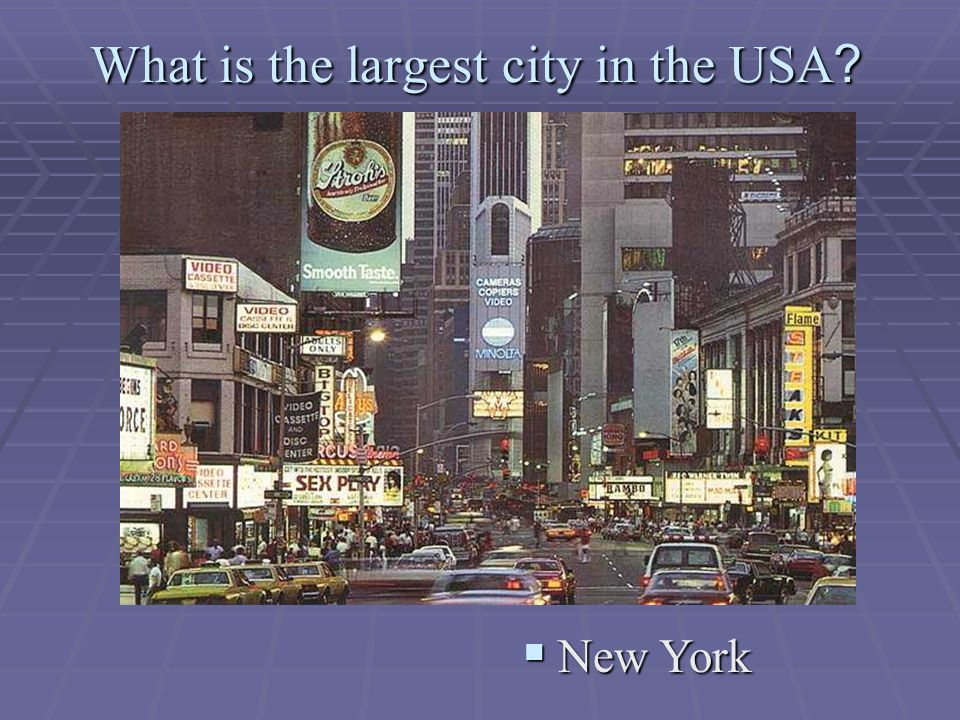 What is the largest city in the USA  New York