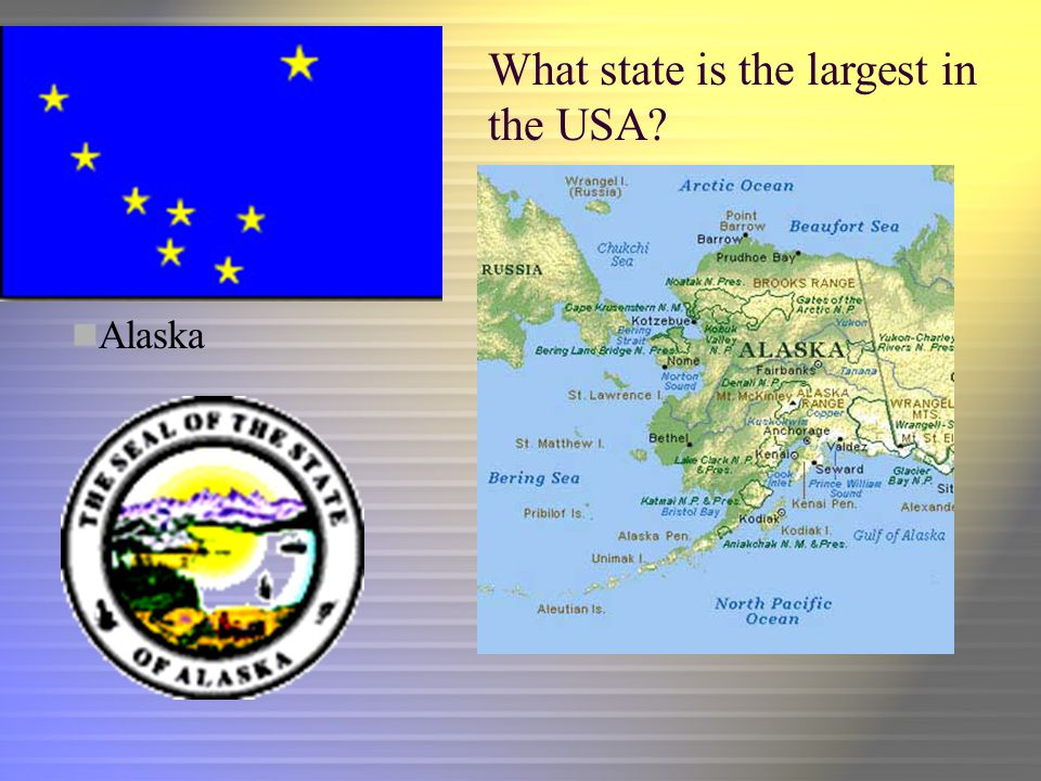 What state is the largest in the USA Alaska