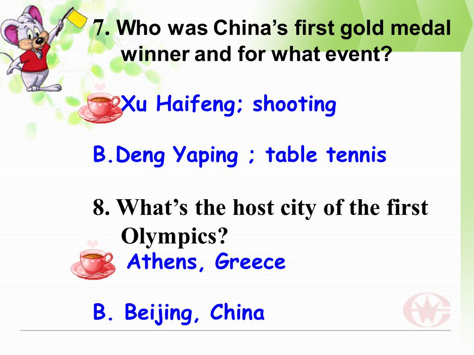 5. How many kinds of Olympic Games are there in the world.