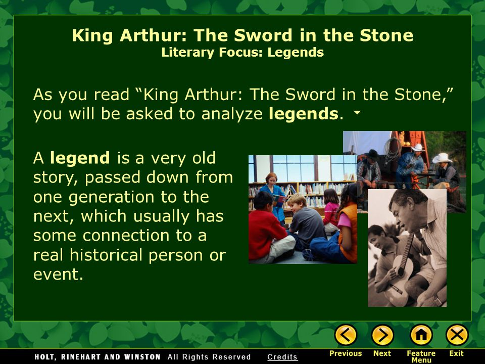 King Arthur: The Sword in the Stone by Hudson Talbott [End of Section] But can a young orphan boy become king? Will the knights of England follow a lo