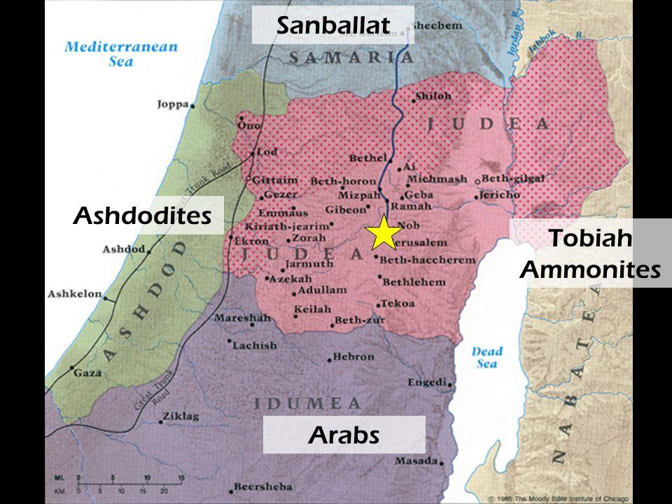 Sanballat Arabs Ashdodites Tobiah Ammonites
