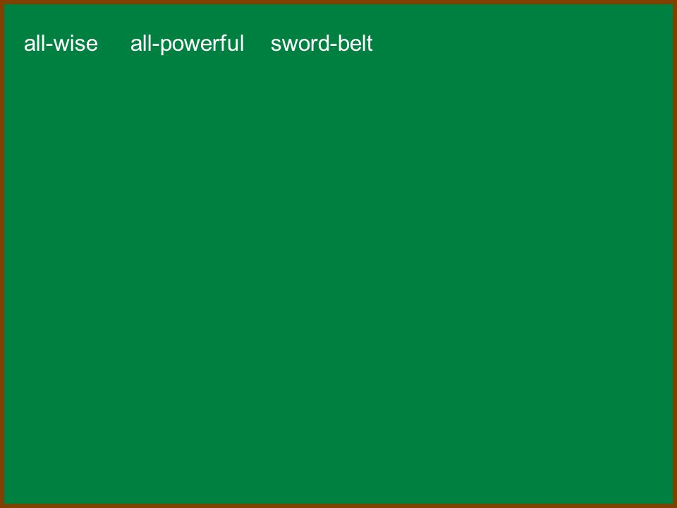 all-wise all-powerful sword-belt