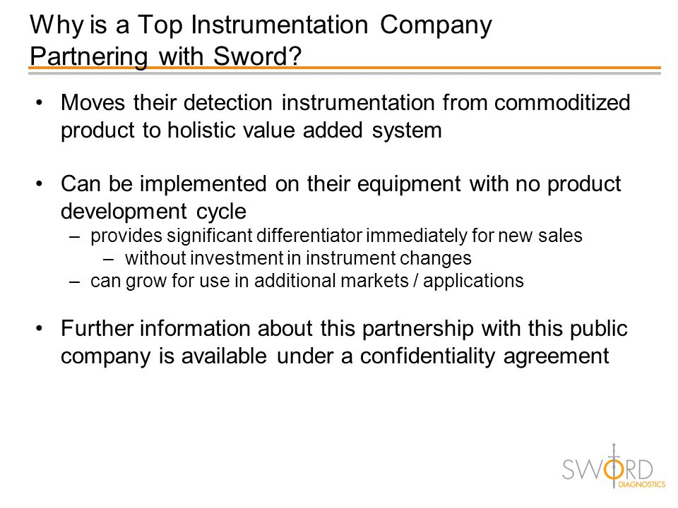 Why is a Top Instrumentation Company Partnering with Sword? Moves their detection instrumentation from commoditized product to holistic value added sy