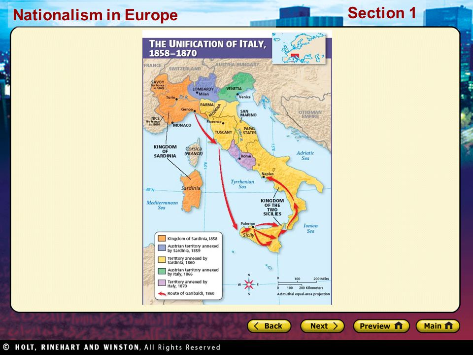 Nationalism in Europe Section 1