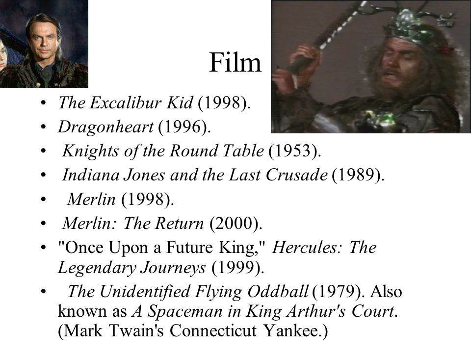 Film The Excalibur Kid (1998). Dragonheart (1996).