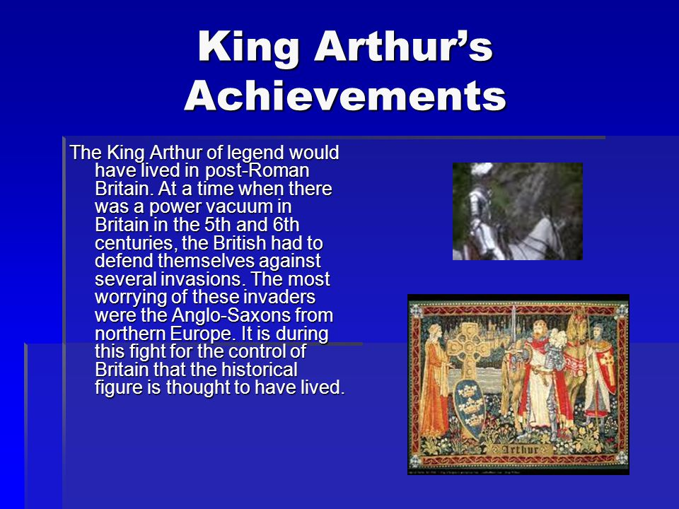 Story of King Arthur Continued As Merlin feared, when King Uther died there was great conflict over who should be the next king. Merlin used his magic