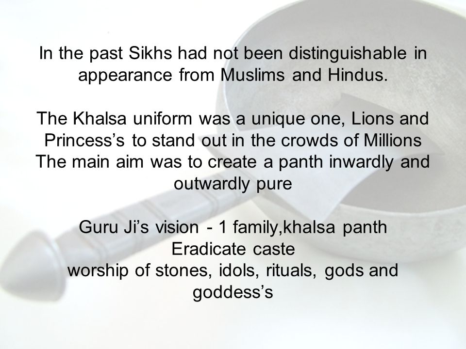 'The amazing Call of faith' Is their any sikh among you all who is ready to lay down his life at a call from me.